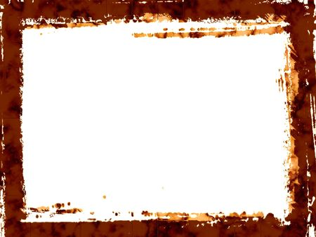 Brown grunge border
