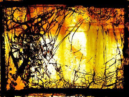 Fiery hell - digital illustration Stock Photo