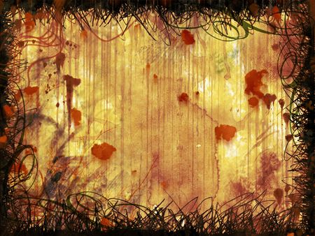 Rusty grunge wall - digital illustration Stock Photo