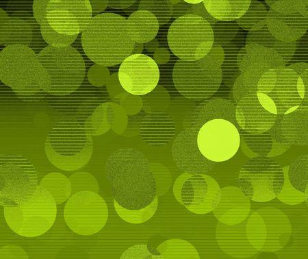 Green bubbles - digital illustration