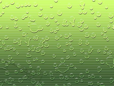 Water droplets on green - digital illustration