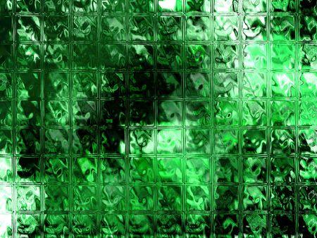 Looking through glass blocks - digital illustration