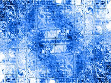 Water through glass - digital illustration