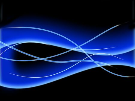 Blue abstract wave - digital illustration