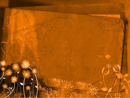 Orange grungy background - digital illustration Stock Photo