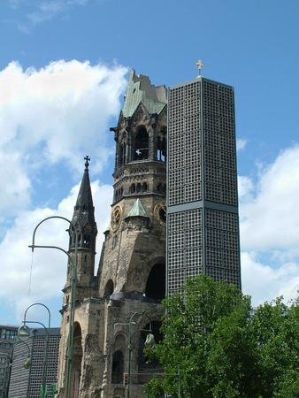 bombed city: The Kaiser Wilhelm Memorial Church in Berlin