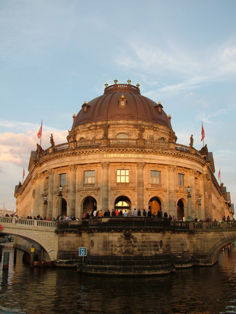 bode: The Bode Museum at sunset Stock Photo