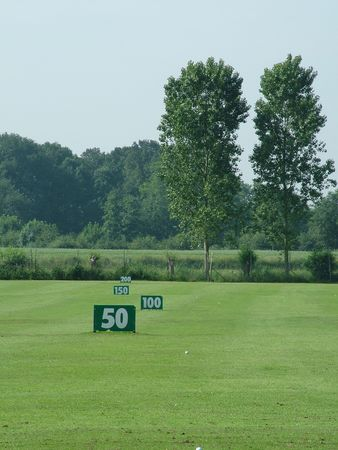 driving range: A golf driving range out in the country