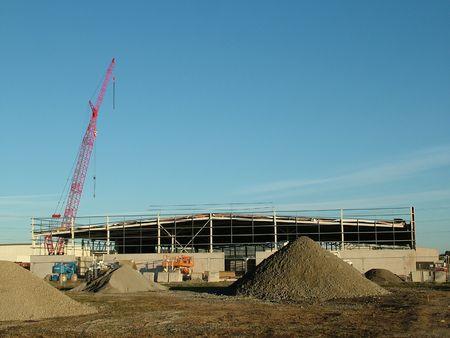 A commercial building site photo