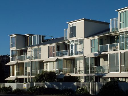 close quarters: Beach-front Holiday Apartment Block
