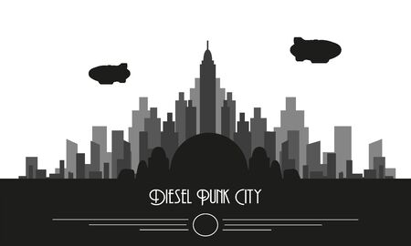 Dieselpunk Skyline City