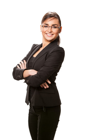 attractive businesswoman: Young attractive businesswoman. Stock Photo