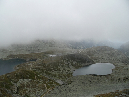 asl: The Great Hincovo Mountain-lake, 1944 m asl, High Tatras, Slovakia Stock Photo