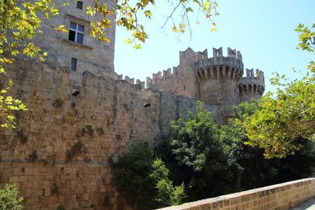 Castle in Rhodes city, Greece