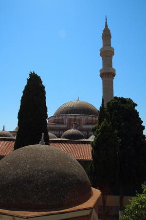 Suleymaniye Mosque or Mosque of Suleiman in Rhodes, Greece