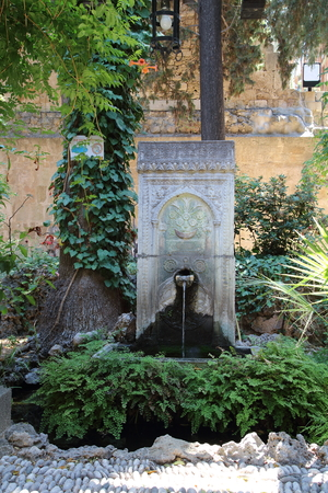 Old fountain in Rhodes city, Greece
