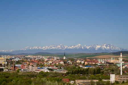 View of Spisska Nova Ves, in the background are High Tatras National Park, Slovakia Reklamní fotografie