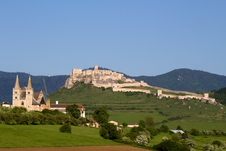 View of Castle and Monastery Spisska kapitula, Slovakia Stock Photo