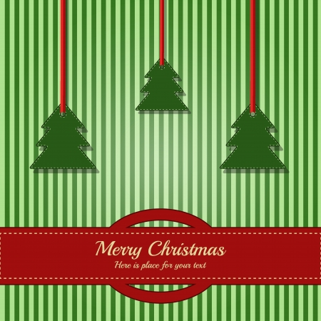 Christmas card   template card with place for your text Vector