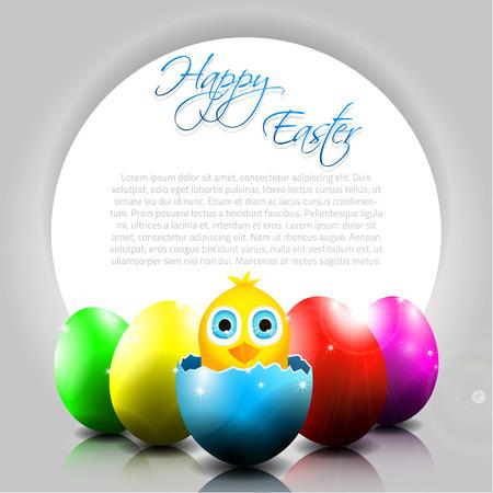 uovo rotto: Chick in uovo rotto e posto per il testo
