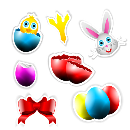 ear drop: Stickers with Easter Themes for web usage or print usage