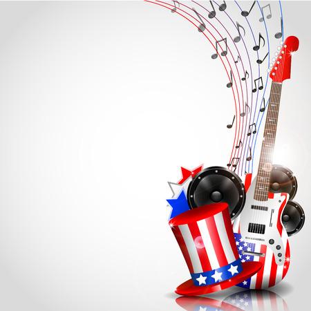 テーマ音楽とテキストの場所でベクトルの独立記念日の背景