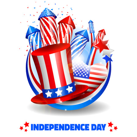 Independence Day Background - Vector with place for your text Vector