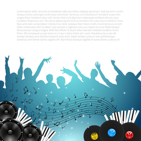 Music Background with Instruments - Vector with place for your text Vector