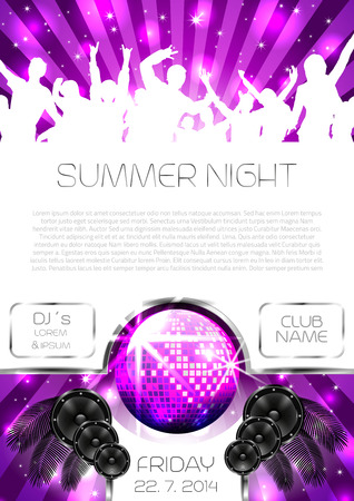 Music Flyer Background with Instruments - Vector with place for your text Vector