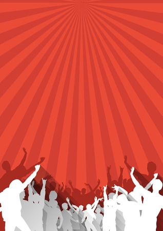 crowd concert: Simple Music Background with Instruments