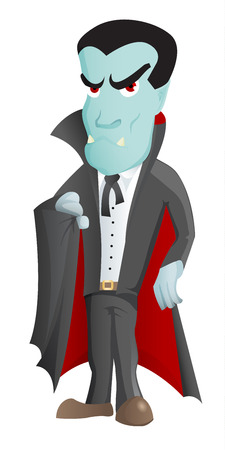 monster movie: Cartoon Vampire Character