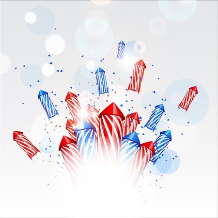 noise maker: Design new year background with fireworks - vector Illustration