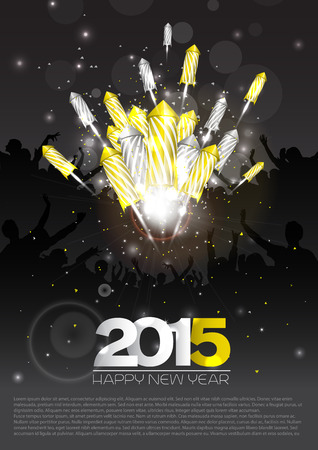 Luxury new year background with fireworks - vector Vector