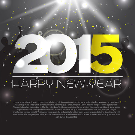 New year background with silhouettes - vector Vector