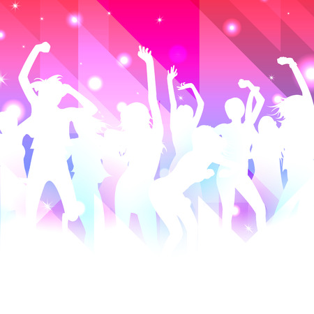 Music Background with dancing girls vector Vector