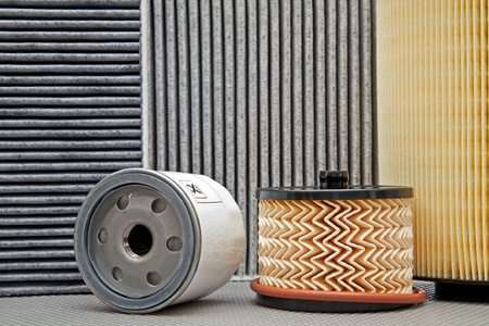 five various car filters photo
