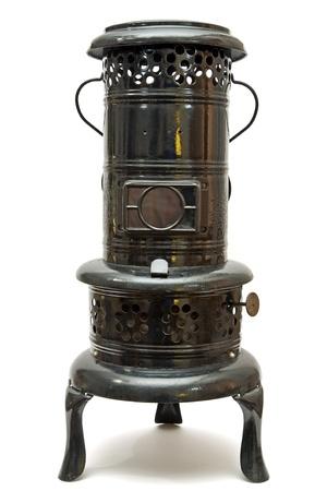 old kerosene burning space heater made In austria Stock Photo