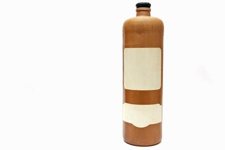 stoneware: stoneware bottle Stock Photo