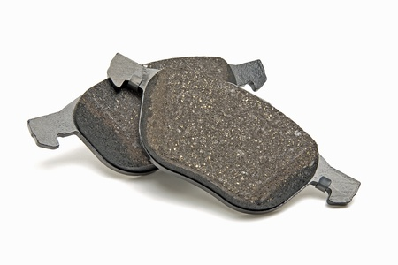 spare car: automobile brake pads Stock Photo