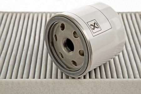 papel filtro: filtro de aceite del coche y polen