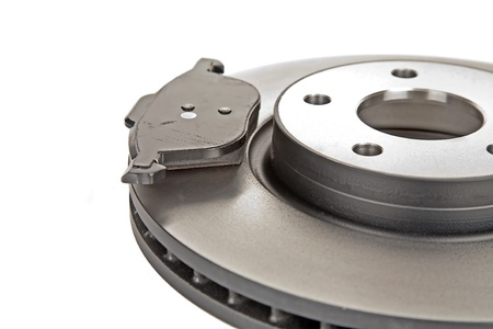 brake disk and one brake pad photo