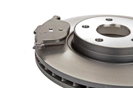Bremsscheibe und einem Bremsbelag Standard-Bild