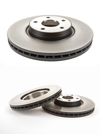 freins: disques de frein et leurs deux images Banque d'images