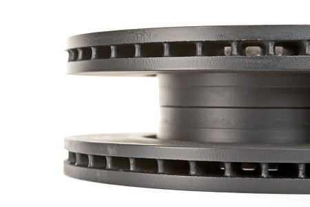 friction: brake discs  side view Stock Photo