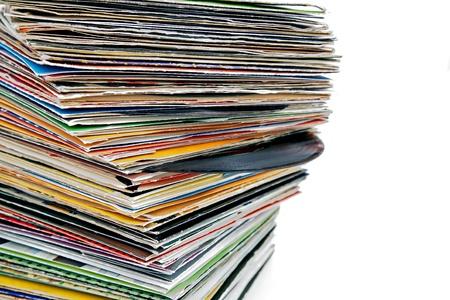 turntable: vinyl records Stock Photo