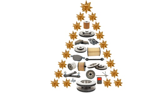 tree disc: christmas tree for automotive