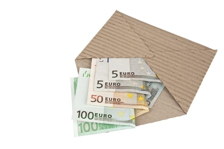 ecological envelope and euro banknotes Stock Photo - 10689331