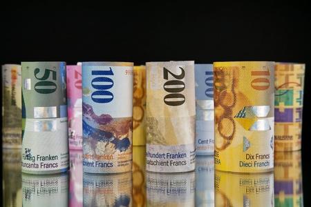 letra de cambio: rollos de francos suizos