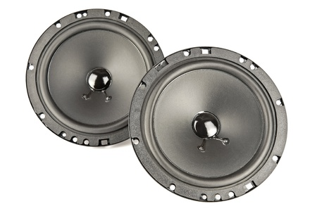 two speakers Stock Photo