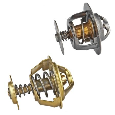 valves: two automotive thermostats Stock Photo
